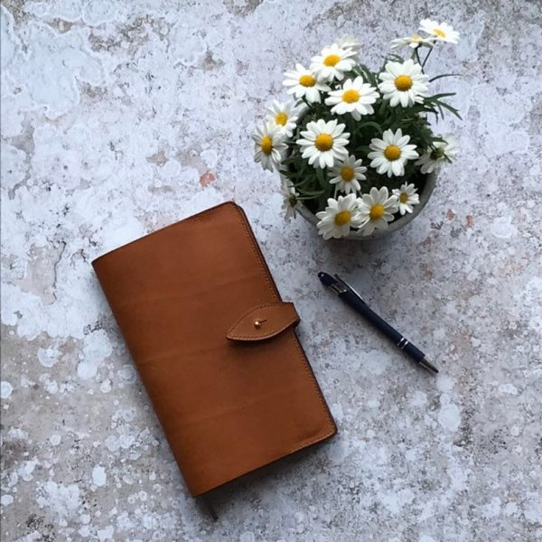 Handmade and hand stitched leather journal