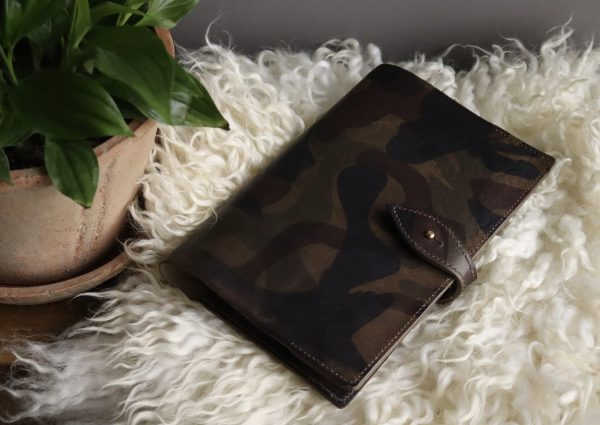 Camouflage leather journal