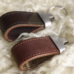 Camouflage leather key fob